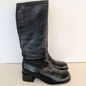 Hush Puppies Black Waterproof Tall Zipper Boot 8.5